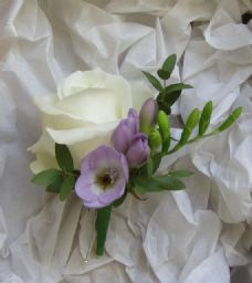 Rose Freesia Buttonhole